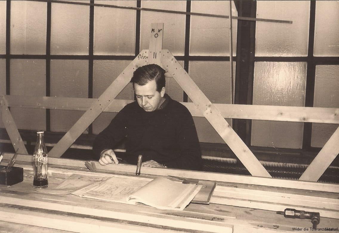 Adolf Kölbel bei der Akschen bei der Arbeit 1