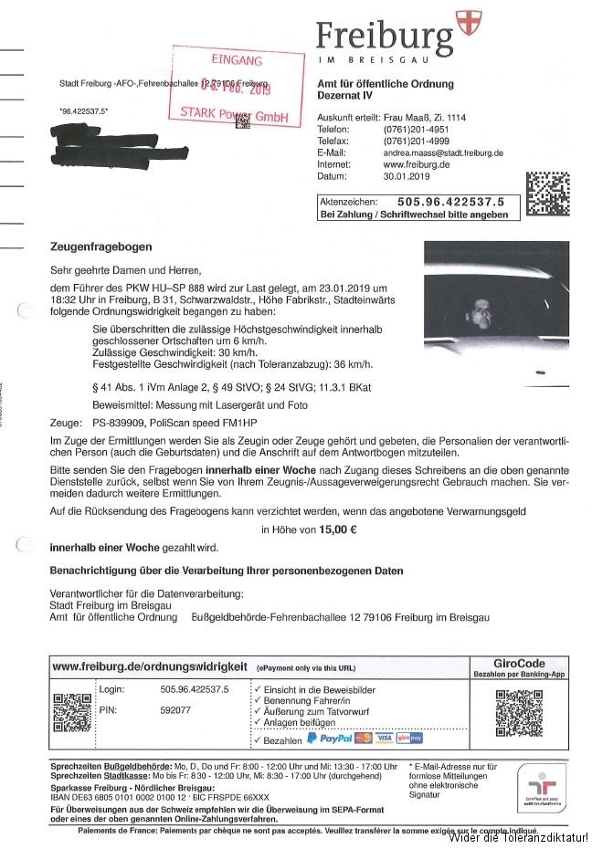 Stadt Freiburg - Heim des grünen Irrsinns - 36 bei 30