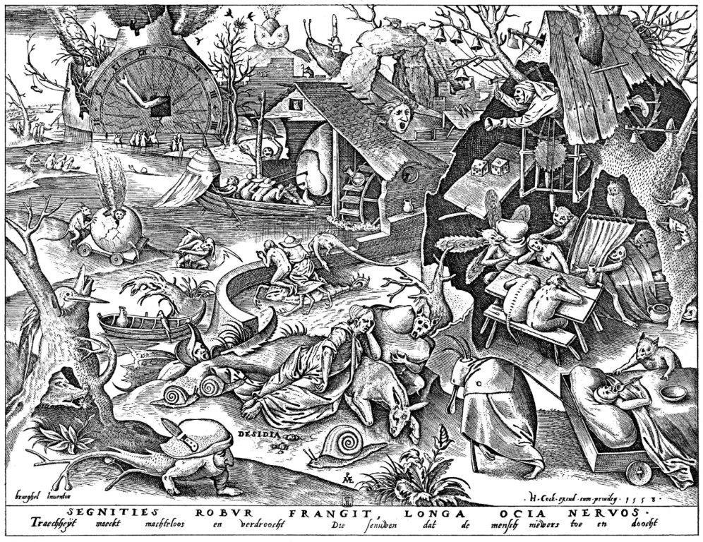 Von Pieter Bruegel der Ältere - Kupferstich, 22,5 × 29,5 cm, Herausgeber: Hieronymus Cock. Bibliothèque Royale, Cabinet Estampes, Brüssel. Online: zeno.org (Volltextsuche), Gemeinfrei, https://commons.wikimedia.org/w/index.php?curid=9094406