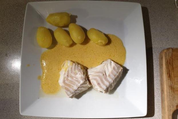 Kochfisch mit Senfsauce